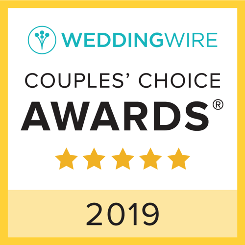 Wedding wire couples' choice awards five stars 2019 logo